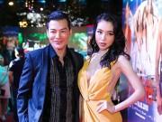 Elly Trần lấp ló vòng 1 gợi cảm bên Trần Bảo Sơn