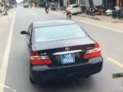 Tài xế xe biển xanh bị tố chèn xe khách nộp phạt 350 nghìn