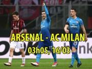 """Arsenal - AC Milan:  Pháo  quyết nổ to,  """" rửa mặt """"  Ngoại hạng Anh"""