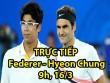 Chi tiết Federer - Hyeon Chung: Set 2 dễ dàng (KT)