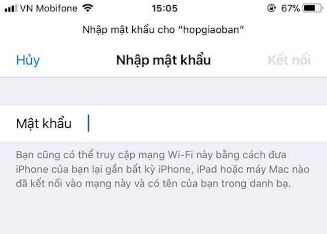 2 1521229700 982 width660height473 Cách chia sẻ pass Wi Fi với bạn bè trên iOS nhanh chóng bất ngờ
