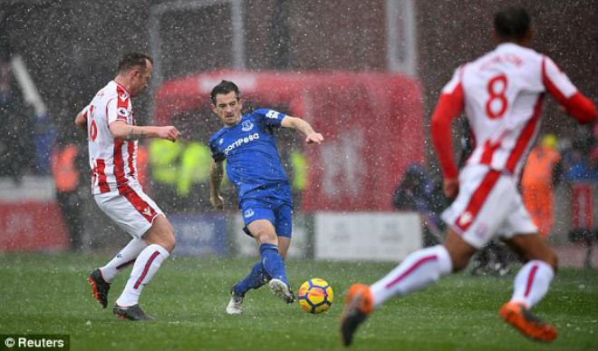 Stoke City – Everton: Thẻ đỏ bước ngoặt, bi-hài kịch dưới mưa tuyết