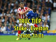 TRỰC TIẾP Stoke - Everton: Cựu sao Liverpool nhận thẻ đỏ