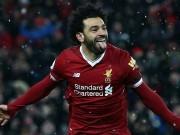 """Salah lập poker lịch sử, Klopp nói chưa """"đủ trình"""" so với Messi"""