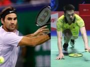 """"""" Vua """"  Federer, Lin Dan mất cúp cùng ngày: Huyền thoại sụp đổ"""