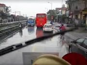 Xuất hiện clip ghi lại khoảnh khắc trên xe cứu hoả trước lúc gặp nạn