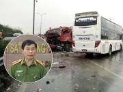 Giám đốc Cảnh sát PCCC nói gì về vụ xe cứu hỏa bị tông trên cao tốc?