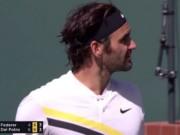 Hiếm thấy: Đấu trí Del Potro, Federer tức giận, bất mãn trọng tài