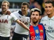 """Ngỡ ngàng: Messi - Ronaldo  """" hít khói """"  cặp Kane - Alli 362 triệu euro"""