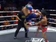 """Cao thủ Muay Thái """"mượn"""" tuyệt chiêu Thiếu Lâm, đối thủ """"thẳng cẳng"""""""