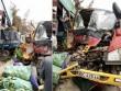 Xe cứu hộ đâm xe tải, sập nhà dân làm 3 người nhập viện