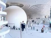 """Chiêm ngưỡng thư viện siêu khổng lồ, đẹp mê hồn cho khách thoải mái  """" sống ảo """""""