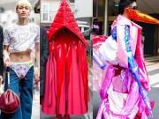 """Trang phục  """" dị """"  ở Tokyo: Mặc quần lót ra ngoài, quấn vải kín mít"""