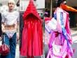 """Trang phục """"dị"""" ở Tokyo: Mặc quần lót ra ngoài, quấn vải kín mít"""
