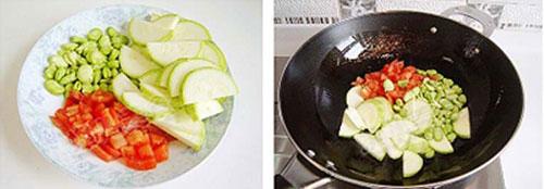 Canh trứng bí ngòi - Hấp dẫn món canh chiều - 1