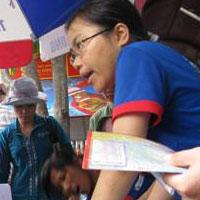 TP.HCM: 17.000 sinh viên tình nguyện tiếp sức mùa thi 2010