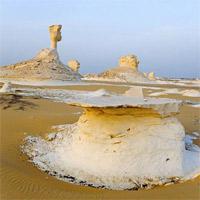 Sa mạc trắng huyền bí ở Ai Cập