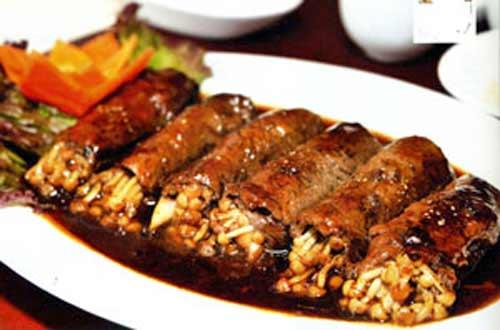 Ẩm thực: Bò cuộn nấm kim châm - 1