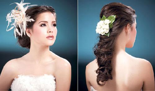 Video làm đẹp: Đơn giản tạo kiểu tóc cô Dâu - 2