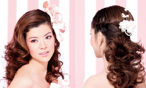 Video làm đẹp: Đơn giản tạo kiểu tóc cô Dâu - 1