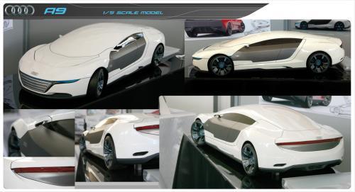 Lộ diện Audi A9 đối thủ của Porsche Panamera - 4