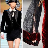Thời trang nhung bùng nổ trong mùa thu 2010