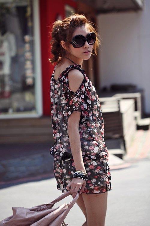 Điệu đà và thời trang với jumpsuit hoa - 5