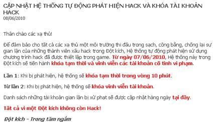 Hack game Đột kích, 17000 tài khoản bị khóa, Tin game, dot kich, đột kích, cf, cross fire, hack, hack game, hack đột kích, hack dot kich, hack cf