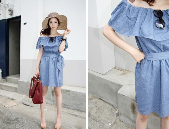 Thời trang hè: Đầm xanh mát lạnh - 2