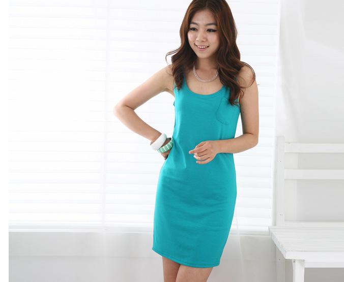 Thời trang hè: Đầm xanh mát lạnh - 3