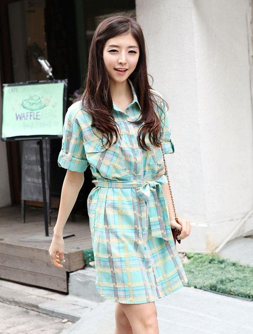 Thời trang hè: Đầm xanh mát lạnh - 4