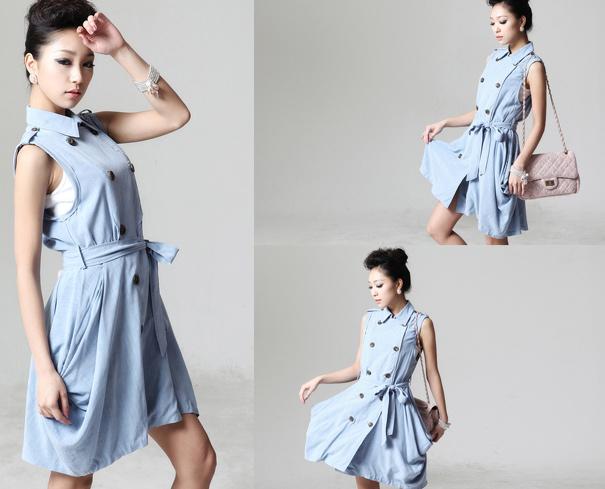 Thời trang hè: Đầm xanh mát lạnh - 1