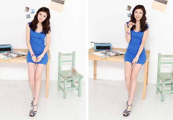 Thời trang hè: Đầm xanh mát lạnh - 9