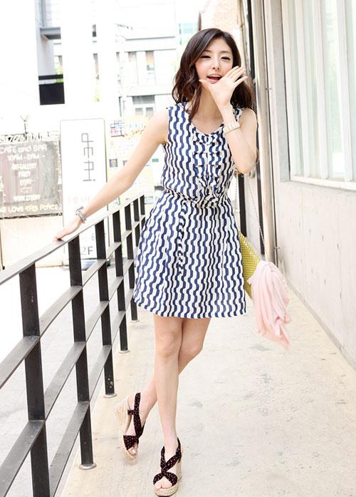 Thời trang hè: Đầm xanh mát lạnh - 14
