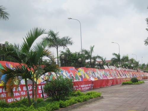 Bức tranh xé dán bằng giấy dài nhất Việt Nam - 2