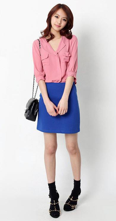 Sơ mi + váy = Cô nàng công sở hoàn hảo - 4