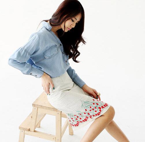 Sơ mi + váy = Cô nàng công sở hoàn hảo - 9
