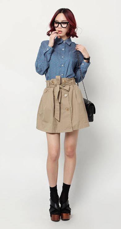 Sơ mi + váy = Cô nàng công sở hoàn hảo - 14