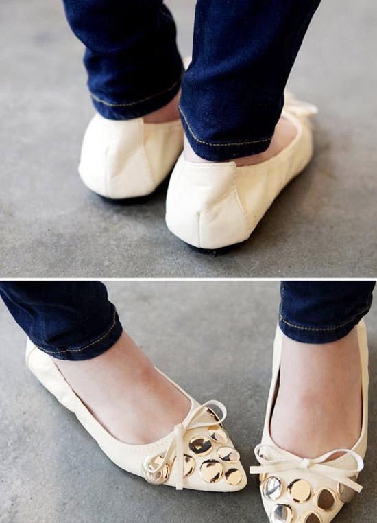 Xuống phố duyên dáng với giày búp bê - 14