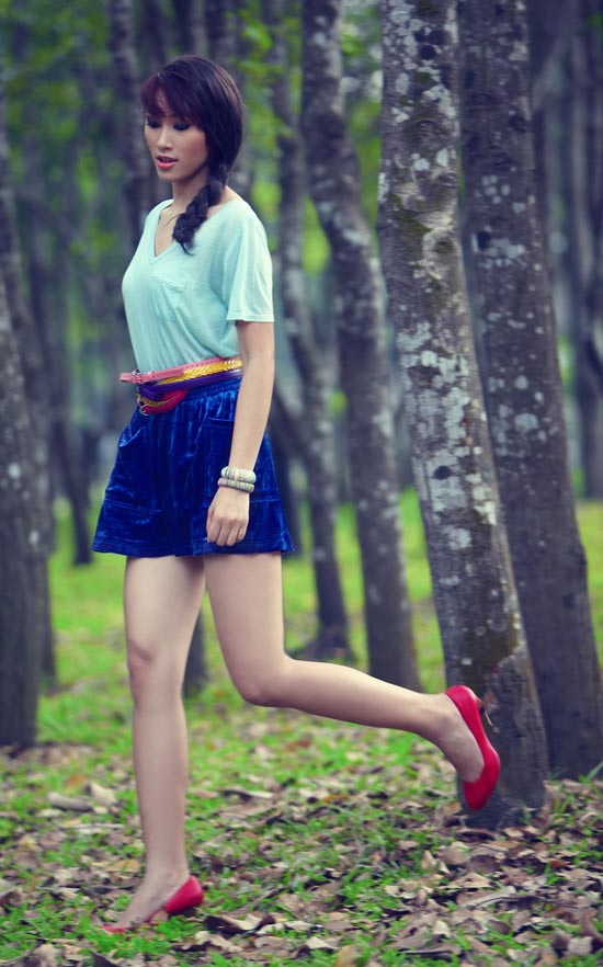 Huyền Trang kết tóc bím đáng yêu - 6