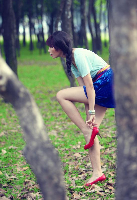 Huyền Trang kết tóc bím đáng yêu - 7