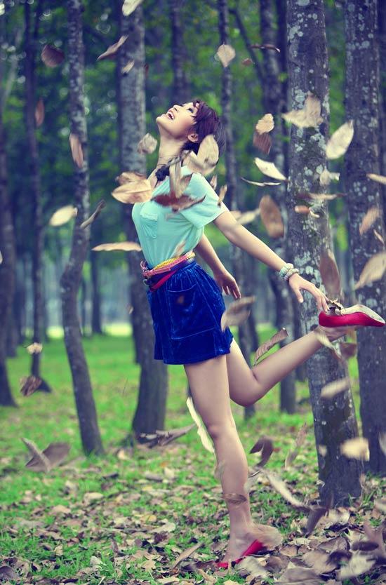 Huyền Trang kết tóc bím đáng yêu - 9