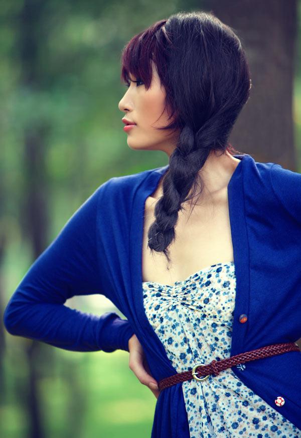 Huyền Trang kết tóc bím đáng yêu - 13