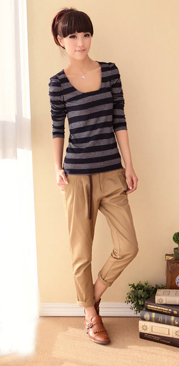 Kéo dài đôi chân với quần công sở - 16