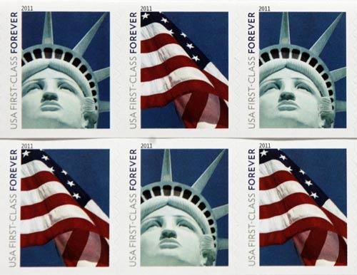 Bưu điện Mỹ in nhầm tượng Nữ thần Tự do - 1