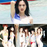 Ngọc Trinh khoe đồ bơi gợi cảm ở Thái