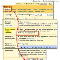 Tắt bỏ tính năng tự động tạo Contact trong Gmail