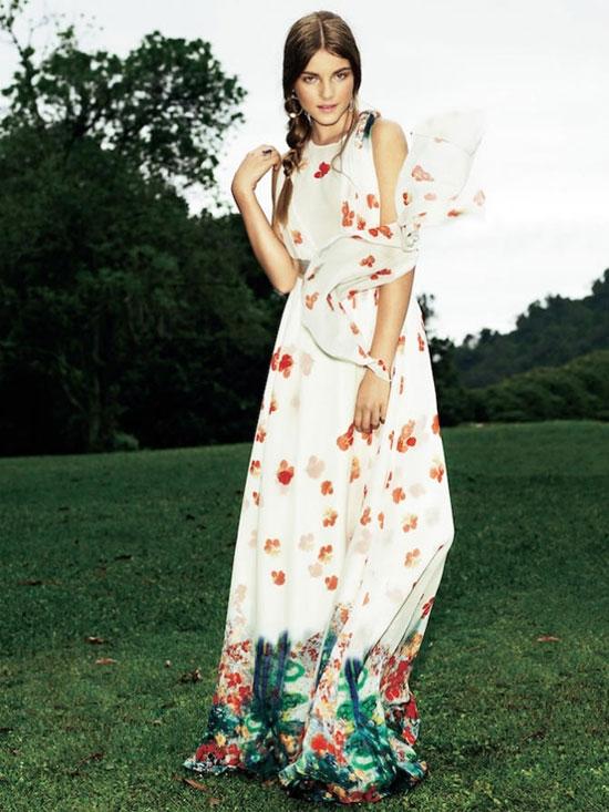 10 mẫu váy hoa kiều diễm để đón hè - 1