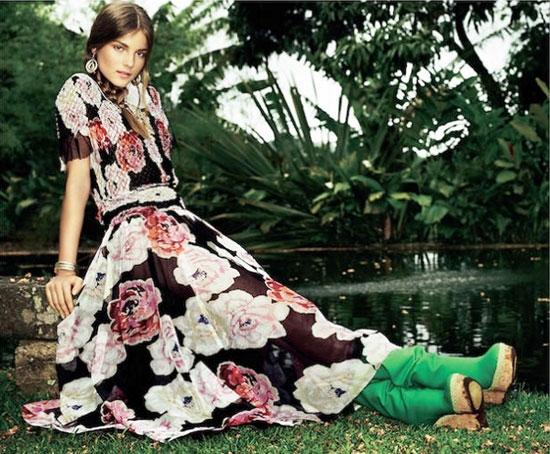10 mẫu váy hoa kiều diễm để đón hè - 10