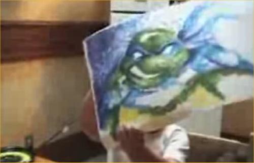 """Video: """"Thần đồng nhí"""" với bức vẽ bằng tay - 2"""